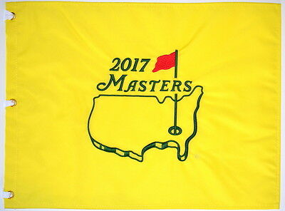 2017 MASTERS Official EMBROIDERED Golf Pin FLAG Sealed Golf Pin Flag