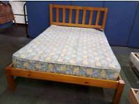 Double Bed & Mattress - Delivery Available