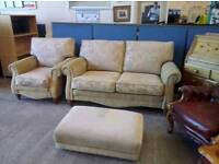 Canterbury sofa armchair and Footstool excellent condition