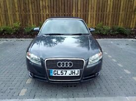 AUDI A4 CONVERTIBLE 2007,GREY,VERY NICE LOOKING CAR,VERY CLEAN&TIDY CAR ,LONG MOT,LOW MILAGE,