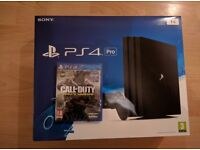 PS4 Pro 1tb with Call of Duty Infinite Warfare
