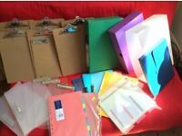 Clipboards/folders/ box files office equipment