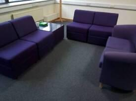 Reception seating set