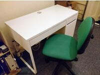 IKEA Desk MICKE White + chair