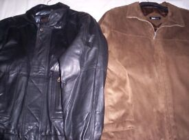 ( NEW ) Mens Leather Jacket & Faux Suede Jacket