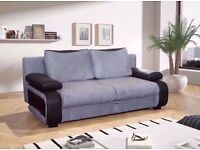 LIMITED TIME OFFER=== 3 seater sofa bed BLACK AND GREY WHITE AND GREY 2 SEATER SOFA bed