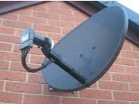 sky dish fitting