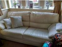 Leather couch and chair free