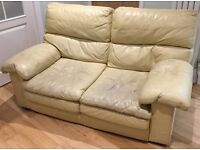 Free leather sofa - very comfy!