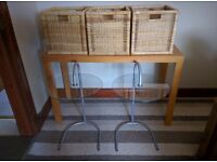 Side tables and storage baskets!