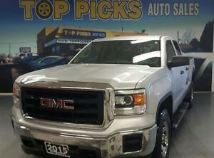2015 GMC Sierra DOUBLE CAB, 4X4, 5.3 LITER V8, LOW KMS!