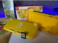 Nintendo Switch Lite!, Animal crossing New Horizons and Case