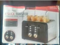 Goodman's stainless steel 4 slice toaster