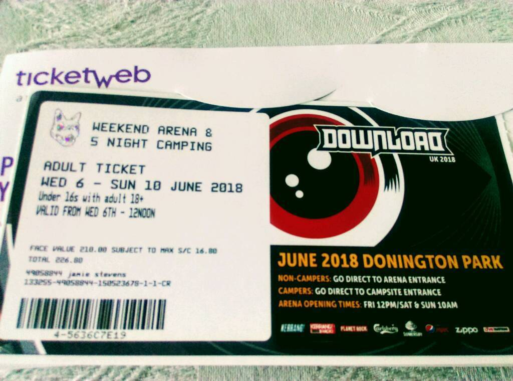 Download festival 5 day camping ticket. | in neath, neath port.