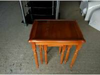 WOODEN NEST OF TABLES FREE DELIVERY