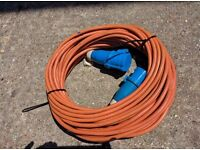 Electric mains very long hookup cable,