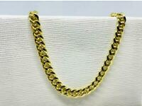 9ct Solid Gold Cuban Chain 22 inch, 5mm 💷.