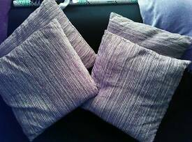 Lilac cushions x4