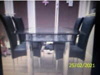 HARVEYS DINING TABLE AND CHAIRS SET