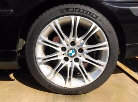 BMW alloys with Michelen Pilot Sport tyres