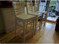 Wooden stools farm house