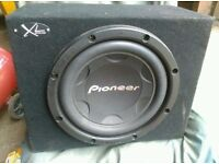 Car Kenwood Amplifier 1000 Watt Power, And Allso It Come With Car Pioneer Subwoofers The With Box