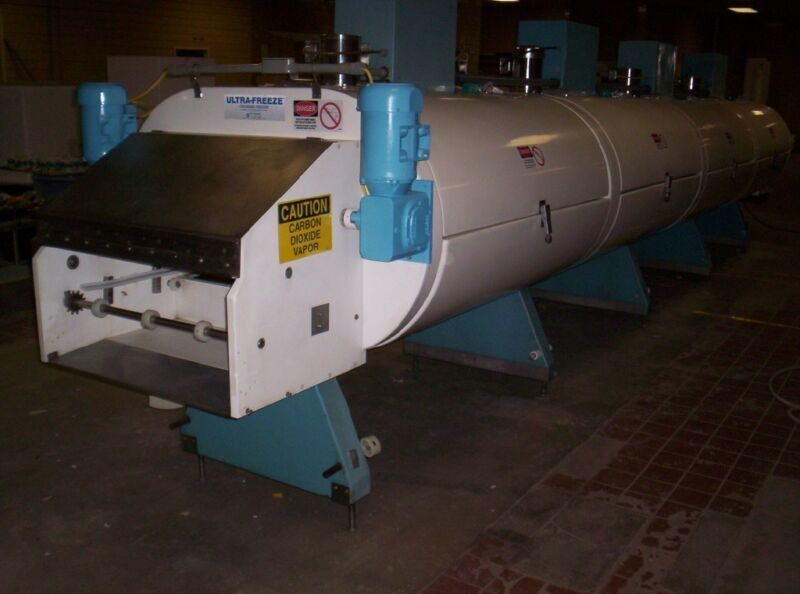 "Refurbished freezer cryogenic tunnel co2/nitrogen 4 module 3 tiers 30"" belt"