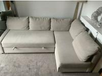 FREE DELIVERY IKEA FRIHETEN HYLLIE BEIGE CORNER SOFA BED WITH EXTRA CUSHIONS GREAT CONDITION