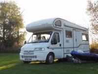 6 berth Motorhome Elddis Autostratus Peugot base- 4 travel seats, U shaped lounge, service history