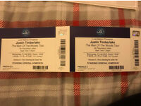 2x Justin Timberlake Tickets 11 July London O2 Arena