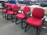 X4 red static office chair