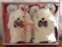 Cute SquareBear Hand Warmers NEW/Boxed