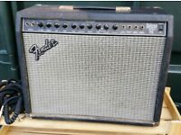 Fender 112 deluxe Guitar Amplifier Amp & Some Leads Untested Spares or Repair MADE IN USA