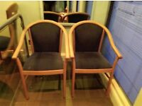 Excellent condition solid wood chairs and tables to be taken ASAP
