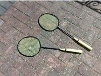 2 Badminton Rackets