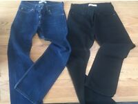 Levi's 512 Bootcut. 2 Pairs; Black & Blue. Men's, W32 L32. £15