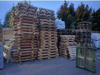 Used wood pallets for free.