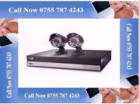 4 CH CCTV SYSTEM HDMI - TWO CAMERA'S - 1 TB HDD - CABLES
