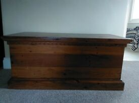 Solid dark oak blanket box for sale. Beautiful condition. Good quality piece of furniture