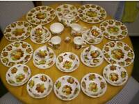 LADY BETH, FINE BONE CHINA DINNER SERVICE, IN VARIOUS FRUIT DESIGNS