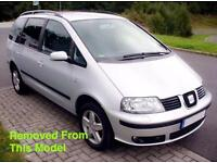 SEAT ALHAMBRA MK1 1.9 TDI SILVER 2004 BREAKING FOR ALL PARTS