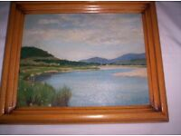 ROBERT EASTON STUART, ORIGINAL OIL PAINTING BORN 1890 DIED 1940 TITLED THE SPEY PAINTED 1935