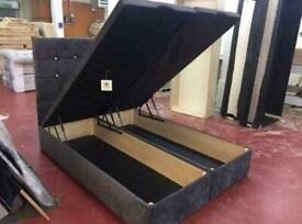 MEARNS OTTOMAN BED DOUBLE/KING SIZE WITH/WITH OUT ORTHOPAEDIC MATTRESS DIFFERENT FABRIC AND COLOURS