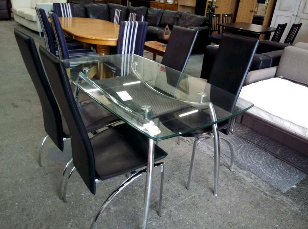 Dining Table With Four Chairs - £95