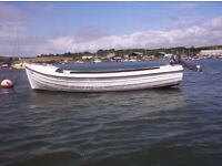 Orkney Longliner boat , 8hp Tohatsu 2 stroke outboard , trailer