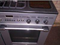MODERN 110 CM LEISURE ZENITH GAS RANGE COOKER IN SILVER GREY.