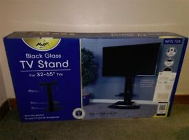 Black Glass TV stand (Unused)