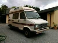 Camper Van for sale. Talbot Motorhome 1989,low mileage, Long Mot 4 berth