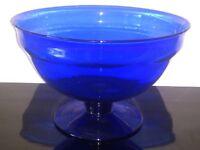 Vibrant Blue Glass Bowl