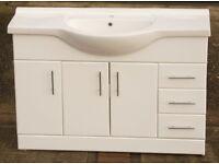 Bathroom vanity sink unit